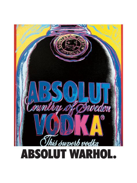 Credit: 1985 Andy Warhol Foundation for the Visual Arts. Used by The Absolut Company AB under exclusive license.