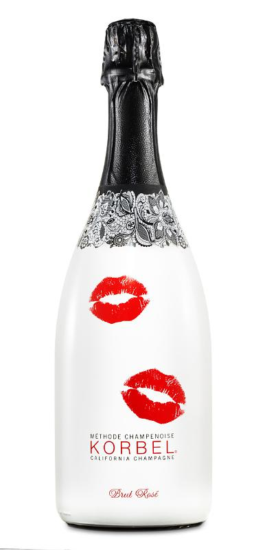Korbel celebrates romance with a limited edition Brut Rose bottle.